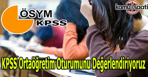 2016 KPSS Ortaöğretim sınavını değerlendiriyoruz