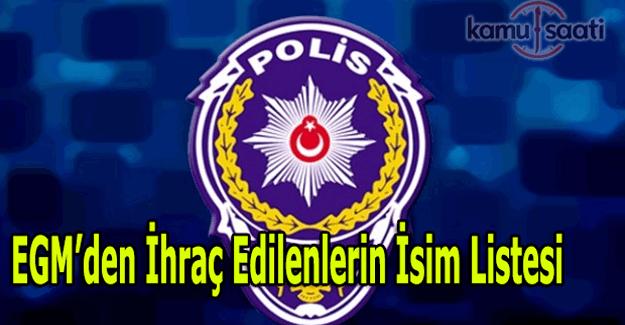677 sayılı KHK ile Emniyetten ihraç edilen polis ve personelin isim listesi (Tam Liste)