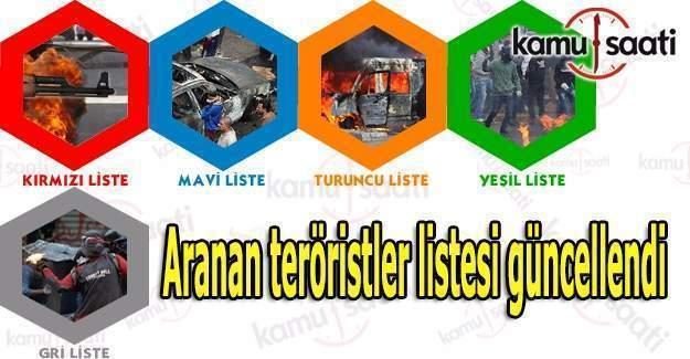 Aranan teröristler listesi güncellendi