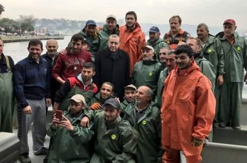 Cumhurbaşkanı Erdoğan balık avına çıktı
