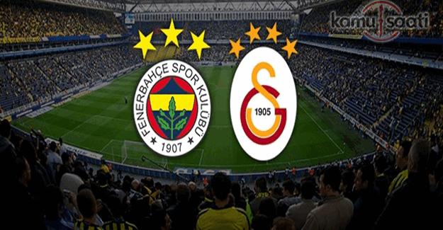 Fenerbahçe Galatasaray derbi maçı muhtemel ilk 11'ler