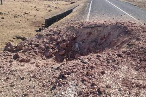 Hakkari'de yola yerleştirilen bomba imha edildi