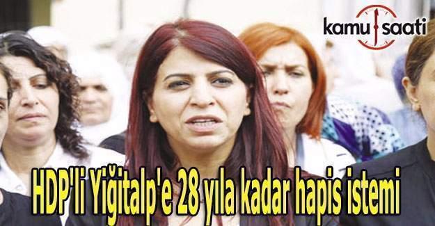HDP'li Yiğitalp'e 28 yıla kadar hapis istemi