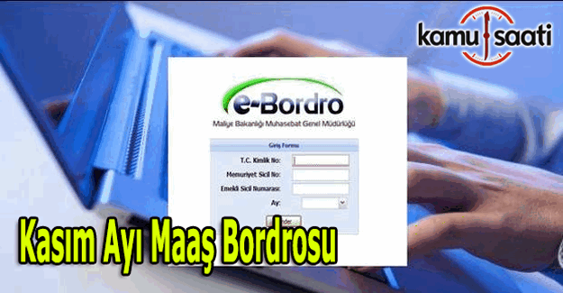 Kasım ayı maaş bordrosu yayımlandı - 15 Kasım e-bordro sorgula öğren