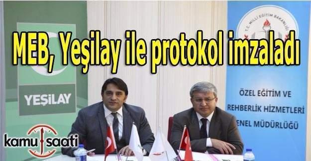 MEB, Yeşilay ile protokol imzaladı