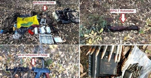Terör operasyonunda çok sayıda mühimmat ele geçirildi