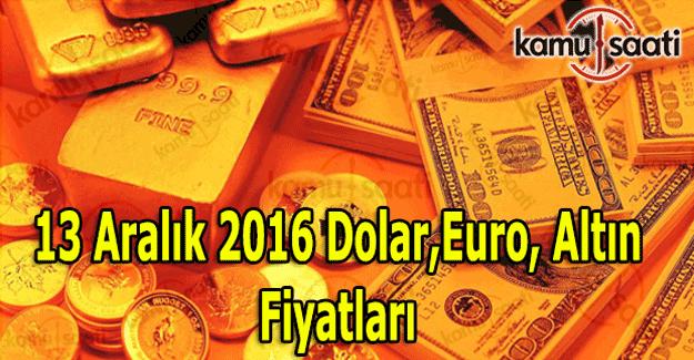 13 Aralık 2016 Dolar, Euro, Kapalı Çarşı güncel altın fiyatları