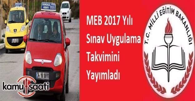 2017 MTSKS (ehliyet) Sınav Uygulama Takvimi yayımlandı