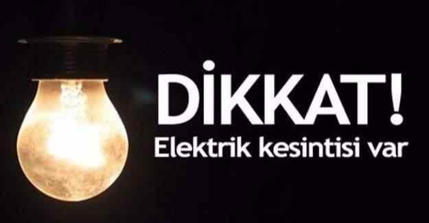 21 Aralık günü 6 ilde elektrik kesintisi yaşanacak