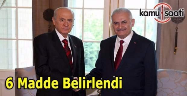 AK Parti ve MHP 6 maddede uzlaştı - İşte o maddeler