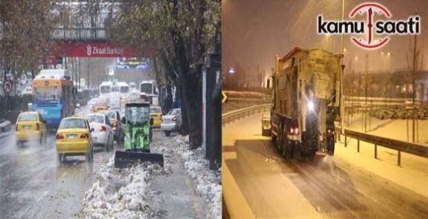 Ankara'da karla mücadele