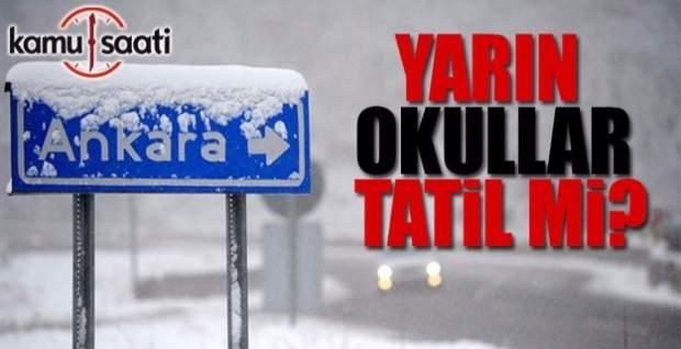 Ankara'da Okullar Tatil Olacak Mı? 30 Aralık Cuma