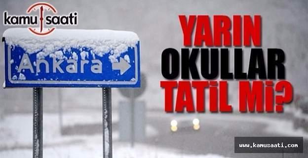 Ankara'da okullar yarın da tatil edildi - Vali Ercan Topaca'dan kar tatili açıklaması