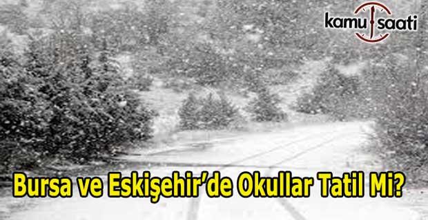Bursa ve Eskişehir'de  okullar tatil mi? 30 Aralık 2016 valilik kar tatili açıklaması