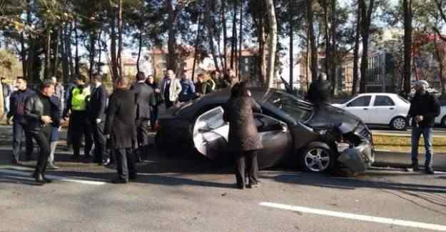 Cumhurbaşkanı Erdoğan'ın konvoyu kaza yaptı