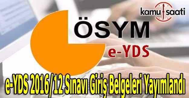 e-YDS Sınava Giriş Belgesi yayımlandı