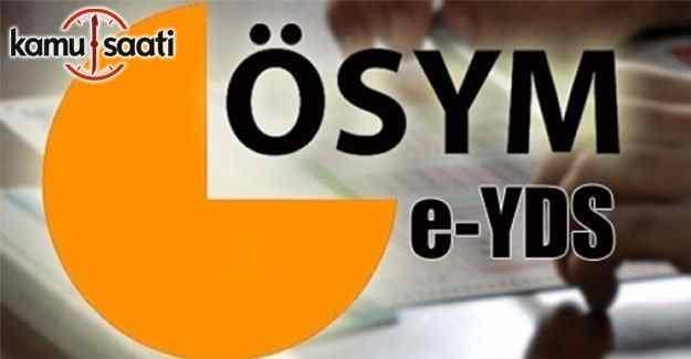 e-YDS sonuçları açıklandı