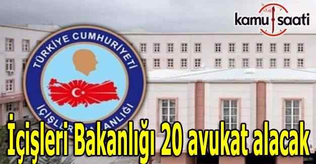 İçişleri Bakanlığı 20 avukat alacak