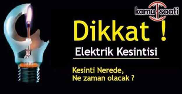 İstanbul'un 11 ilçesinde elektrik kesintisi