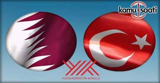 Katar Devleti Eğitim ve Yükseköğretim Bakanlığı ile yükseköğretimde işbirliği