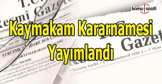 Kaymakam kararnamesi Resmi Gazete'de yayımlandı