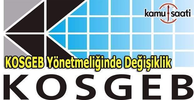 KOSGEB destek programları yönetmeliği değişti