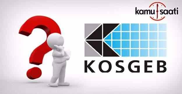 KOSGEB'in faizsiz kredi başvuruları başladı