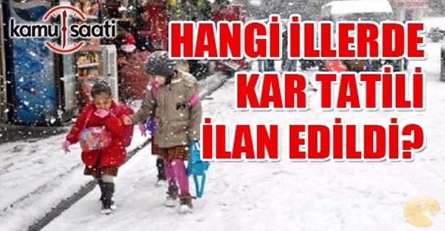 Kütahya, Çankırı, Düzce'de okullar tatil mi? MEB Valilik kar tatili açıklaması