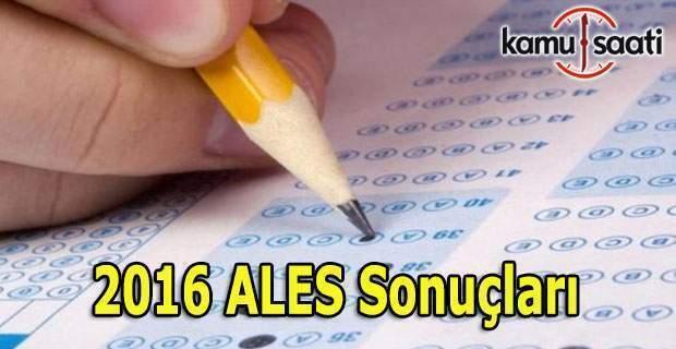 ÖSYM ALES sonuçlarını açıkladı - 2016 ALES sorgula öğren