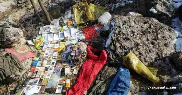 PKK'ya darbe, sığınakları bulundu
