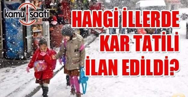 12 Ocak okullar tatil mi? Kar tatili olan iller listesi