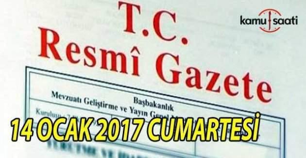 14 Ocak 2017 tarihli Resmi Gazete