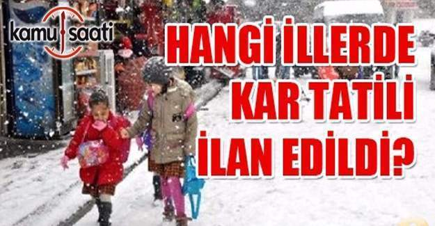 17 Ocak okullar tatil mi? Kar tatili olan iller listesi