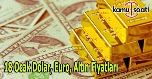 18 Ocak Dolar, Euro ve Altın fiyatları
