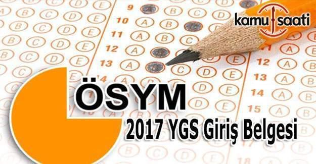 2017 YGS sınav giriş yerleri ne zaman açıklanacak?