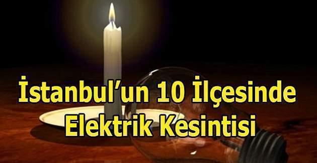 30 Ocak 2017 Pazartesi İstanbul'da elektrik kesintisi