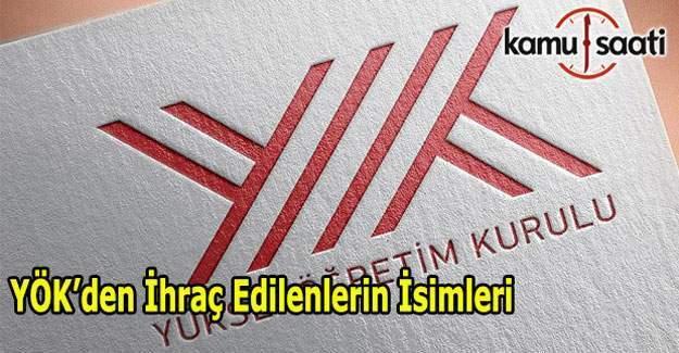 679 KHK ile YÖK'den ihraç edilen akademik ve idari personellerin isim listesi