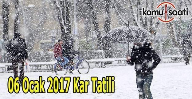 6 Ocak 2016 Cuma hangi illerde okullar tatil olacak? Valilik kar tatili açıklaması