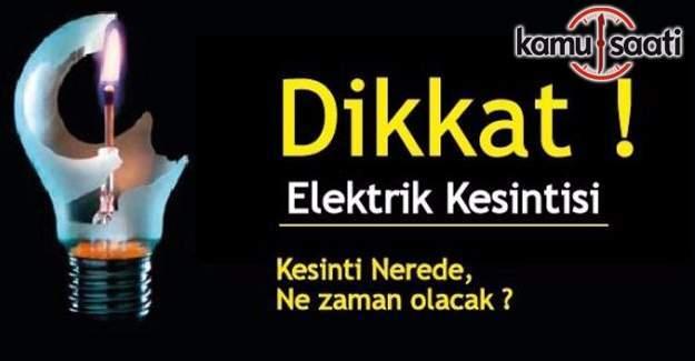 7 Ocak günü İstanbul'un 9 ilçesinde elektrik kesintisi yaşanacak