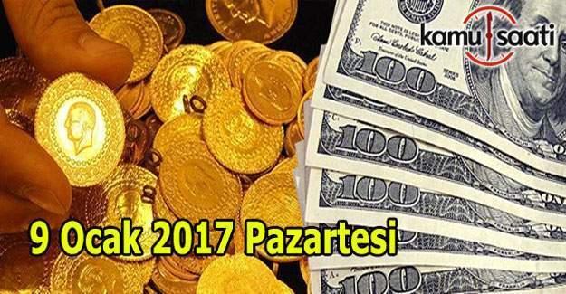 9 Ocak 2017 Dolar, Euro ve Altın fiyatları