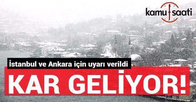 Ankara ve İstanbul'a yeniden kar geliyor
