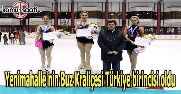 Ankara Yenimahalle'nin Buz Kraliçesi Türkiye birincisi oldu