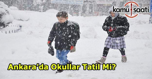 Ankara'da 9 Ocak okullar tatil mi? Ankara Valisi Ercan Topaca kar tatili açıklaması