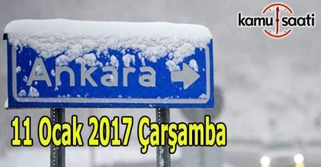 Ankara'da okullar tatil mi? 11 Ocak Valilik son dakika kar tatili açıklaması