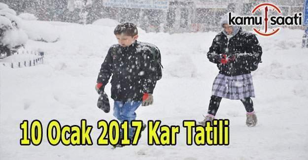 Bolu, Afyon ve Eskişehir'de okullar tatil mi - 10 Ocak 2017 Salı