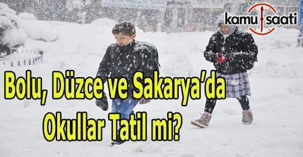 Bolu, Düzce ve Sakarya'da okullar tatil mi? 11 Ocak 2017 Perşembe