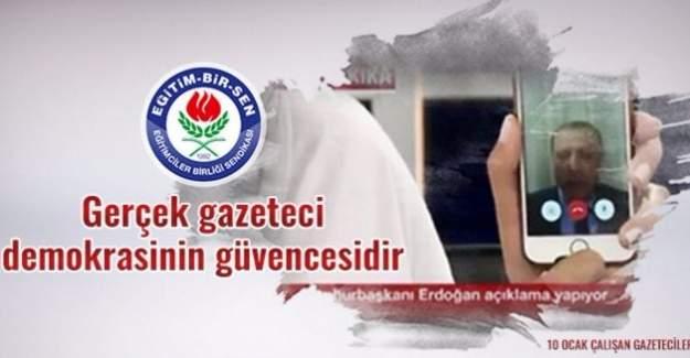 Eğitim-Bir-Sen'den 10 Ocak 'Çalışan Gazeteciler Günü' mesajı