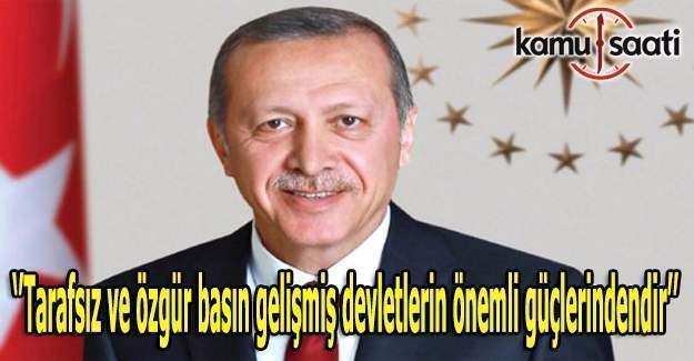 Erdoğan 10 Ocak Çalışan Gazeteciler Günü'nü kutladı