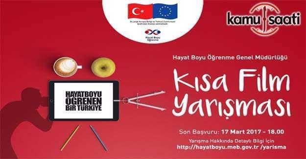 """""""Hayat Boyu Öğrenen Bir Türkiye"""" konulu kısa film yarışması"""