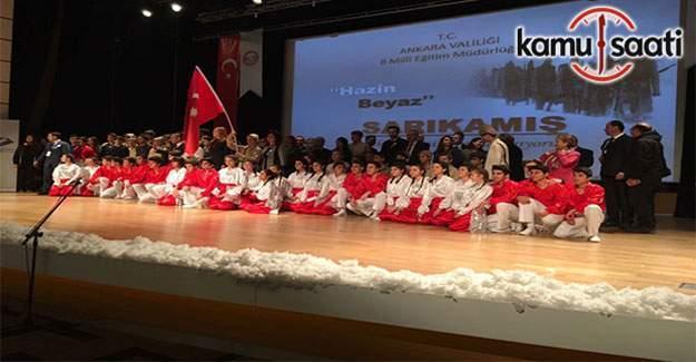 Hazin Beyaz Sarıkamış, Şehit Ömer Halisdemir Anadolu İmam Katip Lisesi'nde anıldı